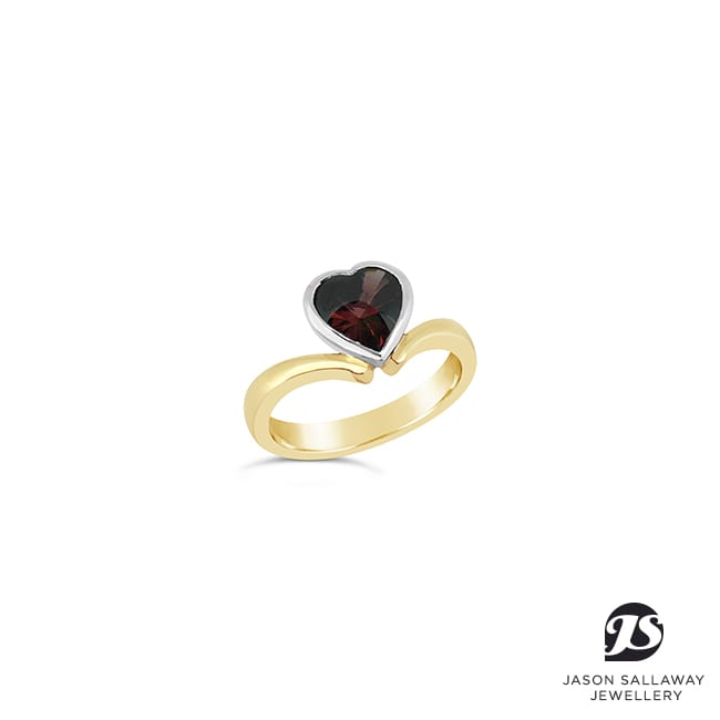 Heart Garnet Ring - Dress Ring