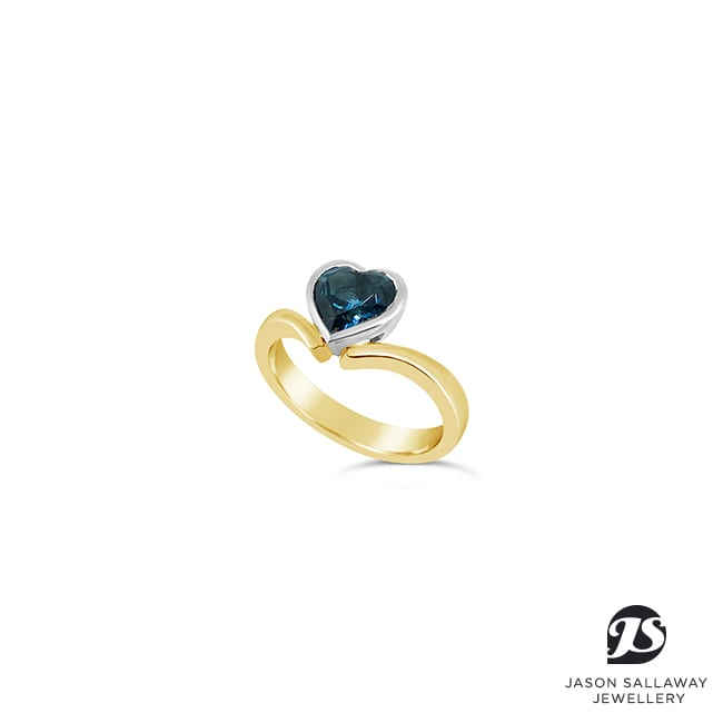 Heart Topaz Ring - Dress Ring