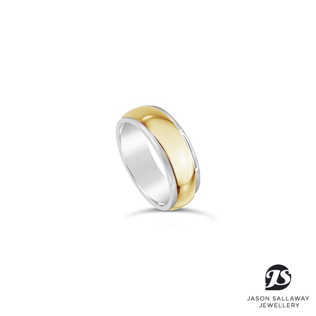 2 Tone Mens Wedding Band | JSJ-00051
