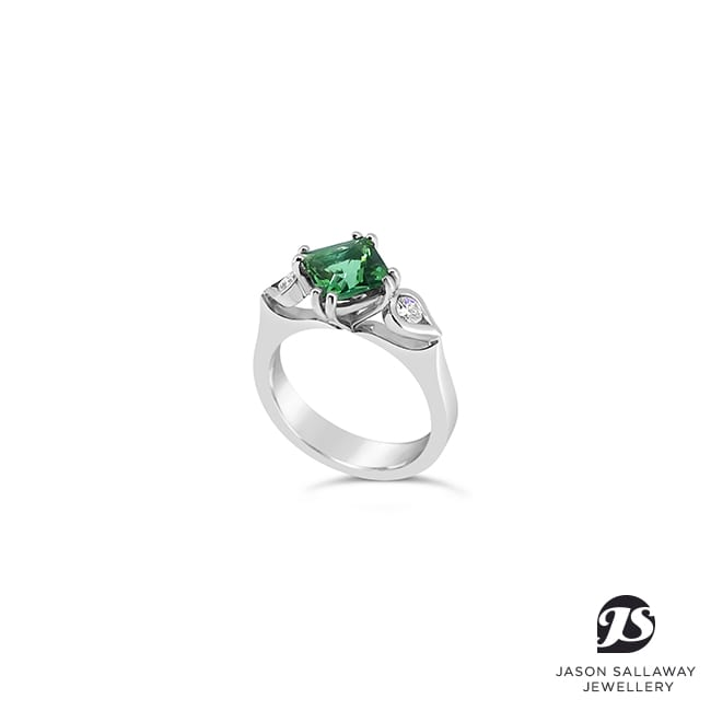 Coloured Gem Dress Engagement Ring | JSJ-00053