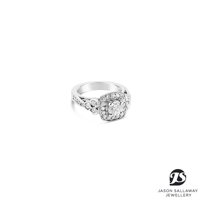 Diamond Engagement Halo Ring | JSJ-00057