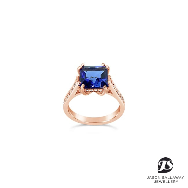 Rose Tanzanite Diamond Dress Ring | JSJ-00061