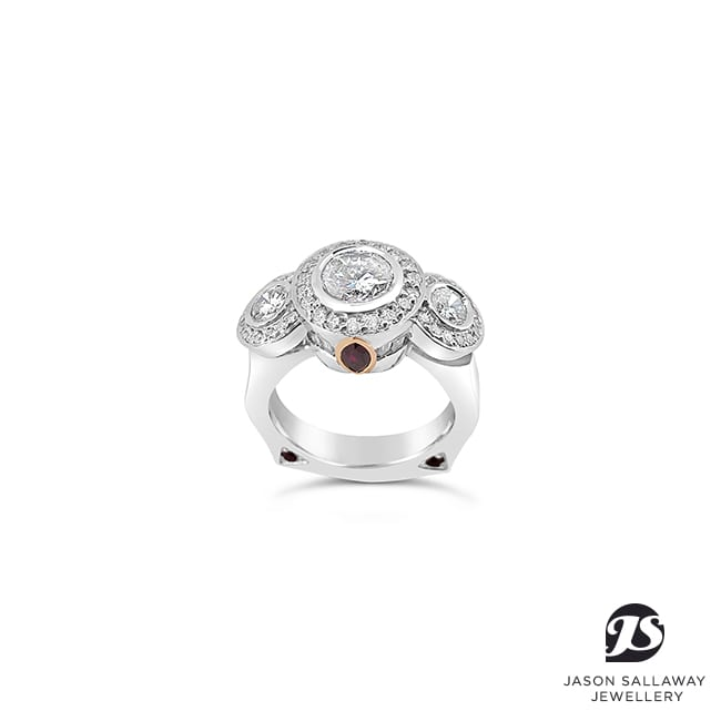 Ruby Diamond Dress Ring | JSJ-00060
