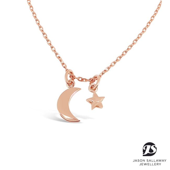 Starmoon Pendant Rose Gold | JSJ-00059